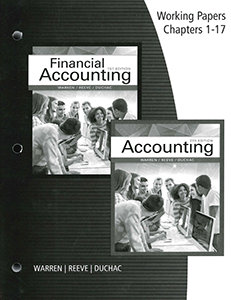 Accounting, 27th Edition, Working Papers
